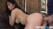 PropertySex – Asian real estate agent with big natural tits fucks client
