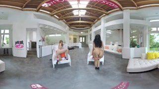 VR Bangers – [360° VR] 3 Crazy Hot Girls Striptease and Masturbate around u