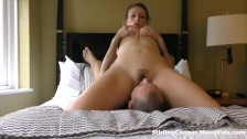 Tattooed British Babe Sits on his face in a 69